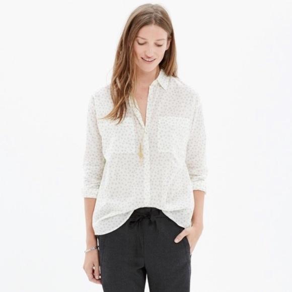 Madewell Tops - Madewell Star Print Trapeze Button Down Shirt
